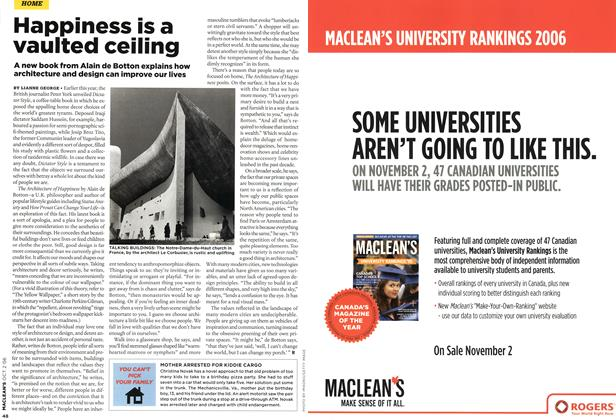 Article Preview: Happiness is a vaulted ceiling, OCT. 2nd 2006 2006 | Maclean's
