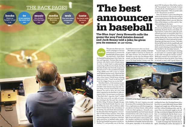 Article Preview: The best announcer in baseball, OCT. 2nd 2006 2006 | Maclean's