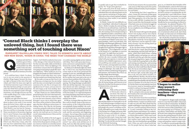 Article Preview: 'Conrad Black thinks I overplay the unloved thing, but I found there was something sort of touching about Nixon', OCT. 2nd 2006 2006 | Maclean's