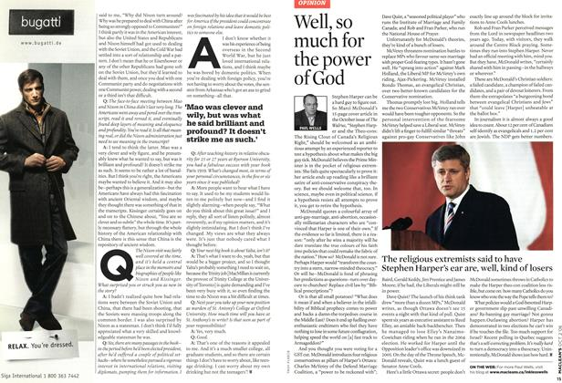 Article Preview: Well, so much for the power of God, OCT. 2nd 2006 2006 | Maclean's