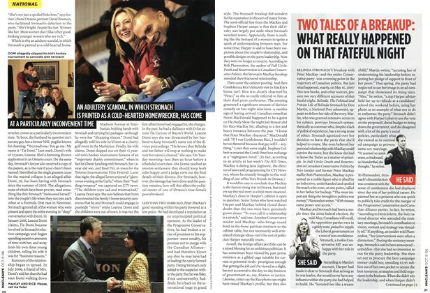 Article Preview: TWO TALES OF A BREAKUP: WHAT REALLY HAPPENED ON THAT FATEFUL NIGHT, OCT. 9th 2006 2006 | Maclean's