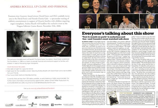 Article Preview: Everyone's talking about this show, OCT. 9th 2006 2006 | Maclean's