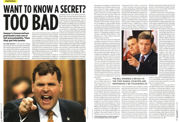 Article Preview: WANT TO KNOW A SECRET? TOO BAD, OCT. 16th 2006 2006 | Maclean's