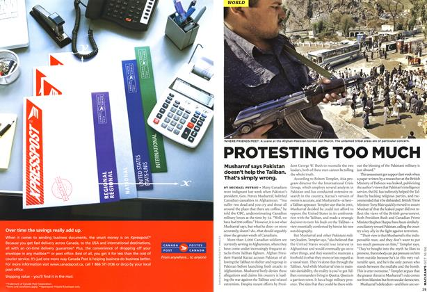 Article Preview: PROTESTING TOO MUCH, OCT. 16th 2006 2006 | Maclean's