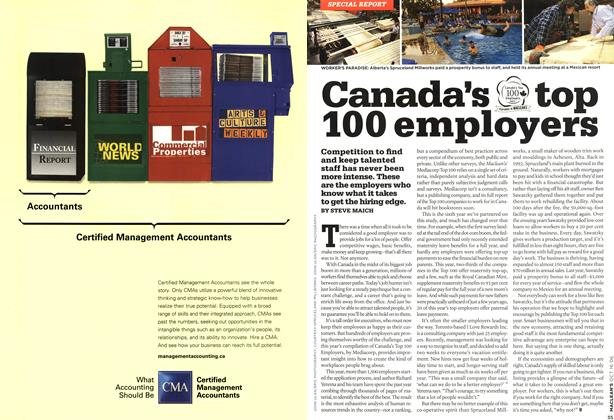 Article Preview: Canada's top 100 employers, OCT. 16th 2006 2006 | Maclean's