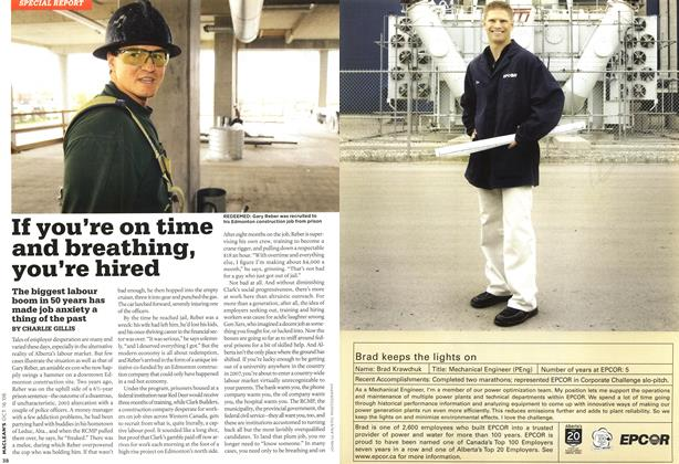 Article Preview: If you're on time and breathing, you're hired, OCT. 16th 2006 2006 | Maclean's