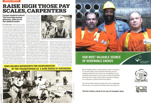 Article Preview: RAISE HIGH THOSE PAY SCALES, CARPENTERS, OCT. 16th 2006 2006 | Maclean's