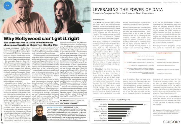 Article Preview: Why Hollywood can't get it right, OCT. 16th 2006 2006 | Maclean's