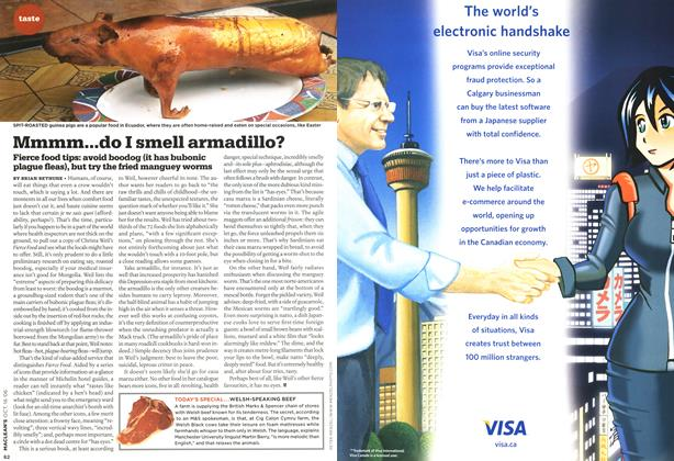Article Preview: Mmmm...do I smell armadillo?, OCT. 16th 2006 2006 | Maclean's