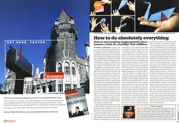 Article Preview: How to do absolutely everything, OCT. 16th 2006 2006 | Maclean's