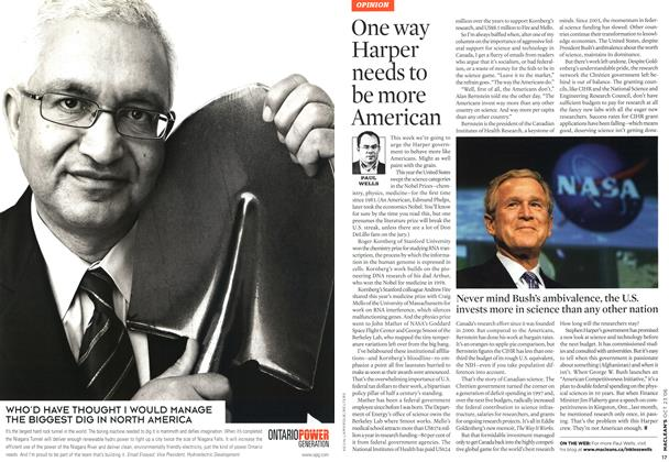 Article Preview: One way Harper needs to be more American, OCT. 23rd 2006 2006 | Maclean's