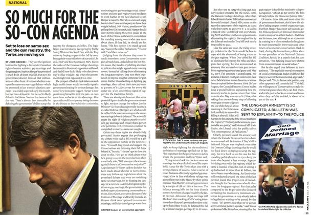 Article Preview: SO MUCH FOR THE SO-CON AGENDA, OCT. 23rd 2006 2006 | Maclean's