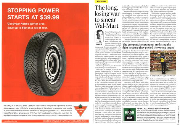 Article Preview: The long, losing war to smear Wal-Mart, OCT. 23rd 2006 2006 | Maclean's