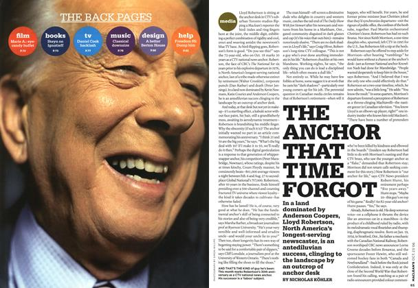 Article Preview: THE ANCHOR THAT TIME FORGOT, OCT. 23rd 2006 2006 | Maclean's