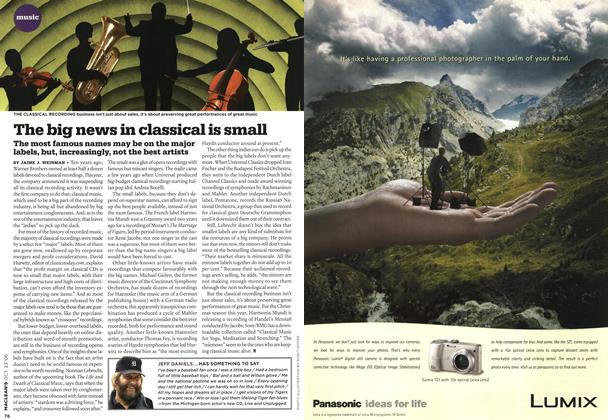 Article Preview: The big news in classical is small, OCT. 23rd 2006 2006 | Maclean's