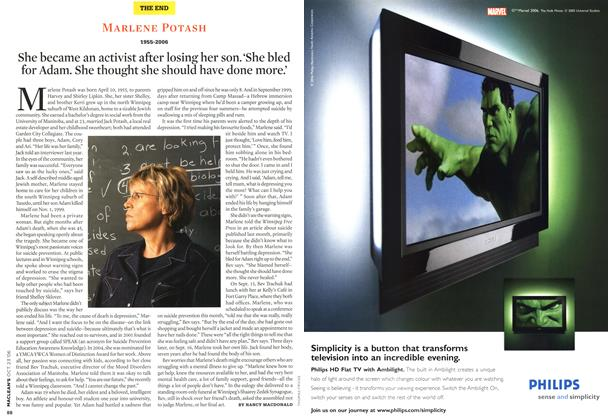 Article Preview: MARLENE POTASH 1955-2006, OCT. 23rd 2006 2006 | Maclean's