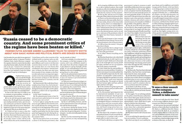Article Preview: 'Russia ceased to be a democratic country. And some prominent critics of the regime have been beaten or killed.', OCT. 30th 2006 2006 | Maclean's