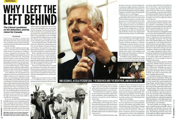 Article Preview: WHY I LEFT THE LEFT BEHIND, OCT. 30th 2006 2006 | Maclean's