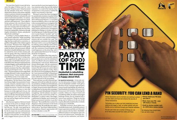 Article Preview: PARTY (OF GOD) TIME, OCT. 30th 2006 2006 | Maclean's