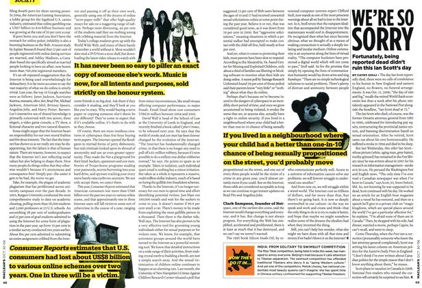 Article Preview: WE'RE SO SORRY, OCT. 30th 2006 2006 | Maclean's
