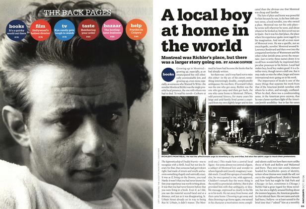 Article Preview: A local boy at home in the world, OCT. 30th 2006 2006 | Maclean's