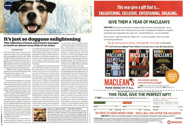 Article Preview: It's just so doggone enlightening, OCT. 30th 2006 2006 | Maclean's