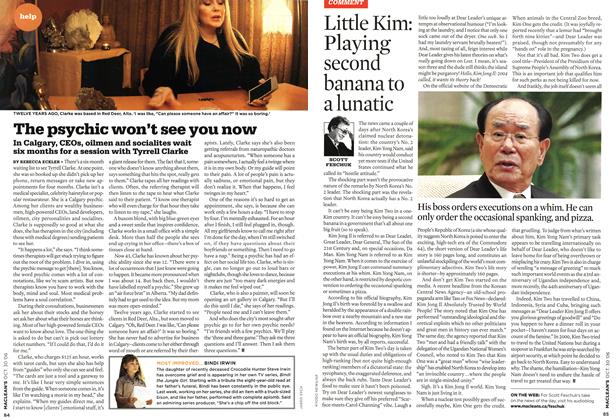 Article Preview: The psychic won't see you now, OCT. 30th 2006 2006 | Maclean's