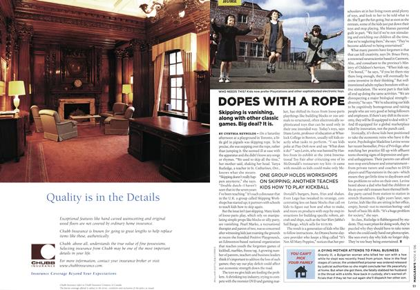 Article Preview: DOPES WITH A ROPE, NOV. 6th 2006 2006 | Maclean's