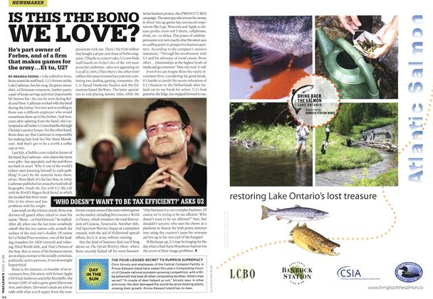 Article Preview: IS THIS THE BONO WE LOVE?, NOV. 6th 2006 2006 | Maclean's