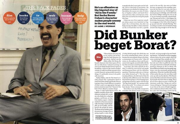 Article Preview: Did Bunker beget Borat?, NOV. 6th 2006 2006 | Maclean's