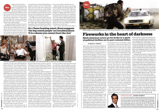 Article Preview: Fireworks in the heart of darkness, NOV. 6th 2006 2006 | Maclean's