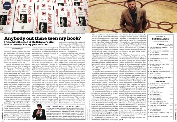 Article Preview: Anybody out there seen my book?, NOV. 6th 2006 2006 | Maclean's
