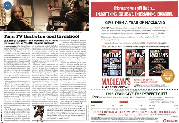 Article Preview: Teen TV that's too cool for school, NOV. 6th 2006 2006 | Maclean's