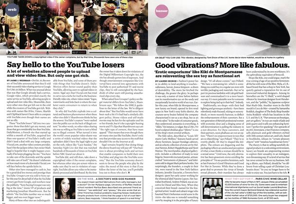 Article Preview: Good vibrations? More like fabulous., NOV. 6th 2006 2006 | Maclean's