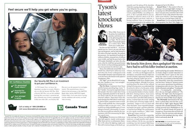 Article Preview: Tyson's latest knockout blows, NOV. 6th 2006 2006 | Maclean's