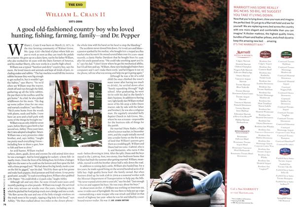 Article Preview: WILLIAM L. CRAIN II 1971-2006, NOV. 6th 2006 2006 | Maclean's