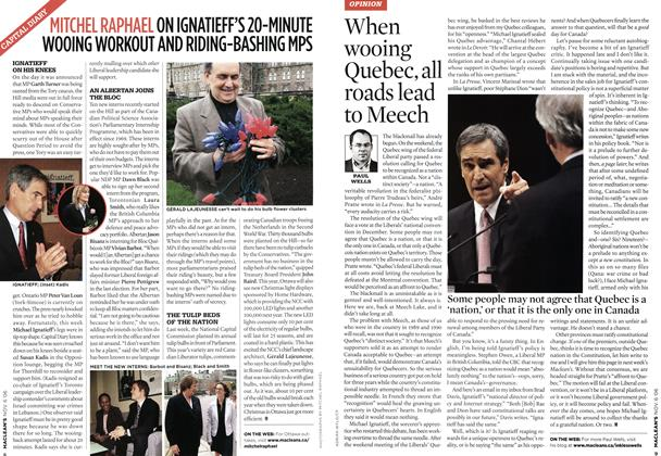 Article Preview: When wooing Quebec, all roads lead to Meech, NOV. 6th 2006 2006 | Maclean's