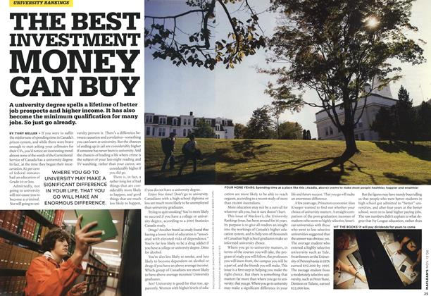 Article Preview: THE BEST INVESTMENT MONEY CAN BUY, NOV. 13th 2006 2006 | Maclean's