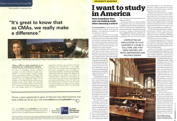 Article Preview: I want to study in America, NOV. 13th 2006 2006 | Maclean's