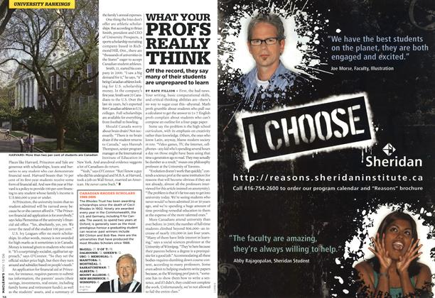 Article Preview: WHAT YOUR PROFS REALLY THINK, NOV. 13th 2006 2006 | Maclean's