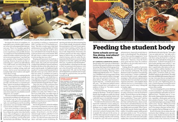 Article Preview: Feeding the student body, NOV. 13th 2006 2006 | Maclean's