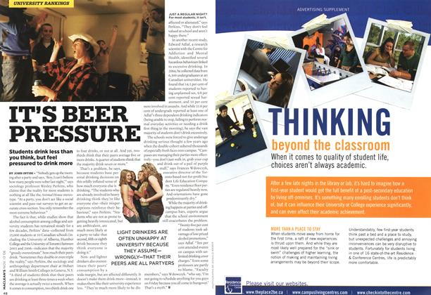 Article Preview: IT'S BEER PRESSURE, NOV. 13th 2006 2006 | Maclean's