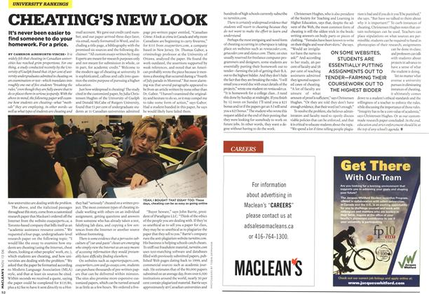 Article Preview: CHEATING'S NEW LOOK, NOV. 13th 2006 2006 | Maclean's