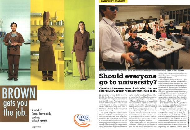 Article Preview: Should everyone go to university?, NOV. 13th 2006 2006 | Maclean's