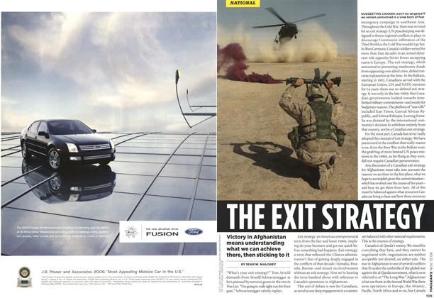 Article Preview: THE EXIT STRATEGY, NOV. 13th 2006 2006 | Maclean's