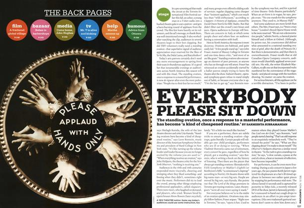 Article Preview: EVERYBODY PLEASE SIT DOWN, NOV. 13th 2006 2006 | Maclean's