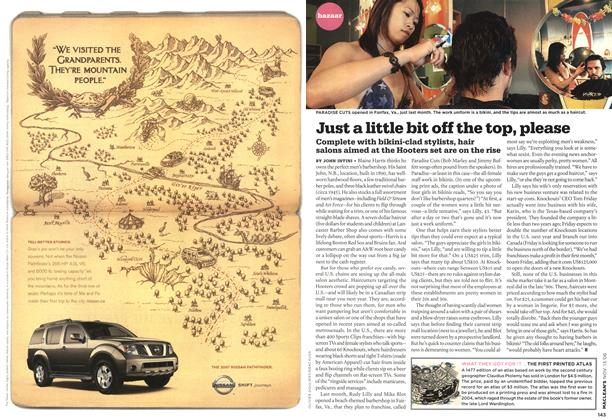 Article Preview: Just a little bit off the top, please, NOV. 13th 2006 2006 | Maclean's