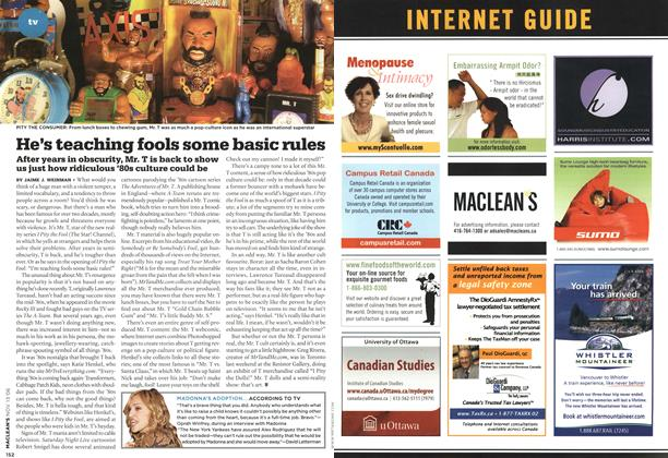 Article Preview: He's teaching fools some basic rules, NOV. 13th 2006 2006 | Maclean's
