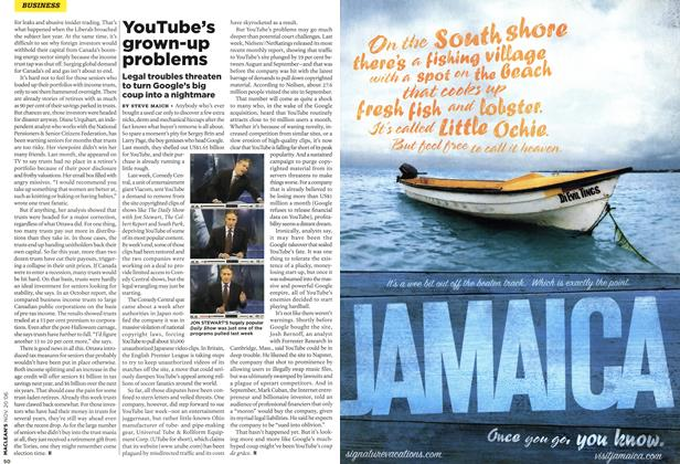 Article Preview: YouTube's grown-up problems, NOV. 20th 2006 2006 | Maclean's