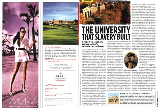 Article Preview: THE UNIVERSITY THAT SLAVERY BUILT, NOV. 20th 2006 2006 | Maclean's